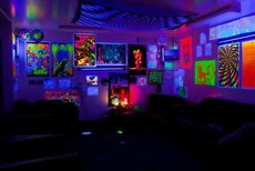 Black light room