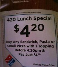 420 lunch special