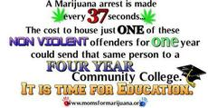 A marijuana arrest is made every 37 seconds