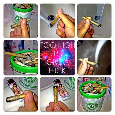 Too high to give a fuck