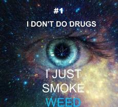I don't do drugs, I just smoke weed