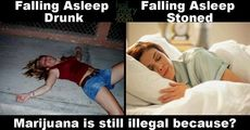 falling asleep stoned