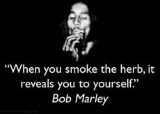 When you smoke the herb, it reveals you to yourself