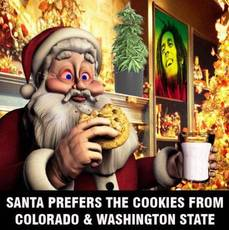 santa prefers the cookies from colorado and washington state